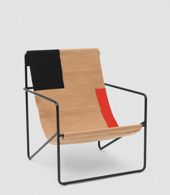 fermliving desert lounge chair black block
