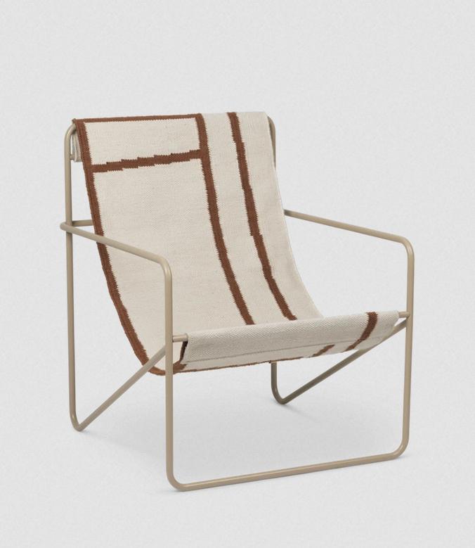 fermliving desert lounge chair cashmere shape